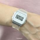 CASIO手錶 銀白透明錶帶電子錶NECD11