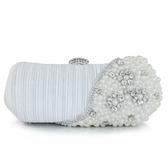 珍珠晚宴包-名媛氣質時尚鑲鑽女手拿鏈條包4色71as29【巴黎精品】