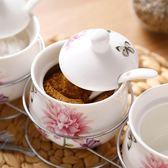 陶瓷調味罐廚房用品家用調料合裝調料瓶三件套油鹽罐