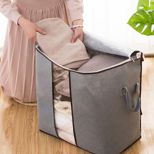 Qmishop 竹炭衣物儲存袋 收納袋 衣服整理箱 大號 整理袋 【J1459】衣物 收納