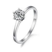 【5折超值價】情人節禮物最新款經典時尚精美大水鑽造型女款鈦鋼戒指