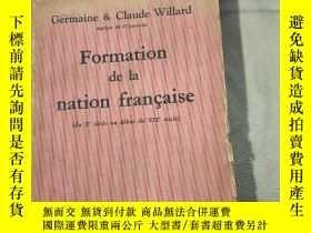 二手書博民逛書店Formation罕見de la nation francais