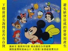 二手書博民逛書店A罕見Treasury of Disney Little Golden Books: 22 Best-Loved