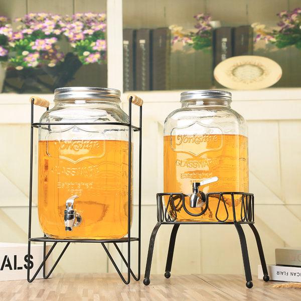 帶龍頭泡酒瓶10斤透明家用果汁罐 飲料桶玻璃 酵素桶梅森罐密封罐 igo 可然精品鞋櫃