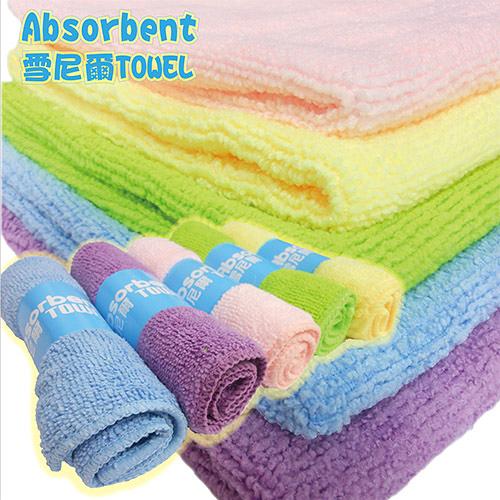 派樂雪尼爾極細纖維毛巾組 ( 中毛巾x2 ) 抹布 擦拭巾 spa洗澡 擦拭身體 嬰幼兒洗臉巾