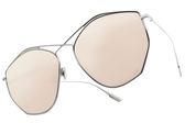 Dior 水銀太陽眼鏡 STELLAIRE4 010SQ (銀-粉水銀紫鏡片) 歐美時尚不規則造型款 水銀墨鏡 # 金橘眼鏡