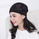韓版帽子女春秋中年帽包頭帽頭巾帽薄款月子帽夏季空調堆堆帽睡帽CY 酷男精品館