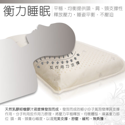 Noavay 諾曼亞 AA級防蹣抗菌英國乳膠枕 (天然Q彈厚實‧防蹣抗菌)