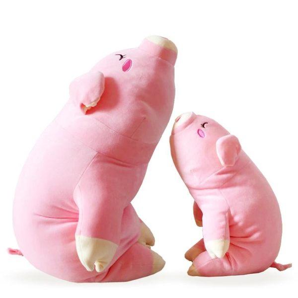 交換禮物-毛絨公仔-豬豬公仔毛絨玩具女生娃娃大號可愛睡覺抱枕趴趴兒童玩偶七夕禮物T1