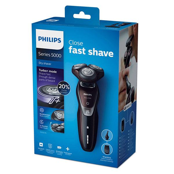 《限量特賣!!》Philips S5510 /45 飛利浦 三刀頭 電鬍刀 (荷蘭製/附鬢角修容刀+鼻毛刀+旅行盒)