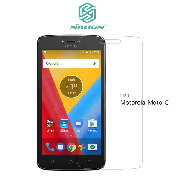NILLKIN Motorola Moto C 超清防指紋保護貼 耐磨 含鏡頭貼 套裝版
