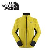 【The North Face 男 FlashDry 風衣外套《黃/瀝灰》】CCY2/戶外/登山/休閒外套