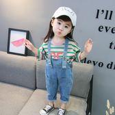 男童女寶寶牛仔吊帶褲0一1-234歲韓版女童春秋裝休閒長褲嬰兒童裝 依夏嚴選