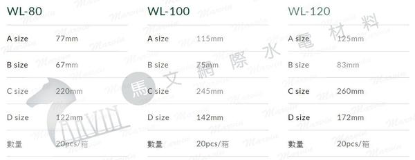 上允 WL前蓋 WL-80mm 冷氣周邊管槽系列