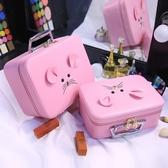 化妝包小號便攜韓版可愛少女心大號大容量小方收納盒品手提化妝箱 聖誕裝飾8折