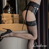 吊帶網襪 Ladoore 致命情網 吊襪帶式性感大腿網襪(黑)