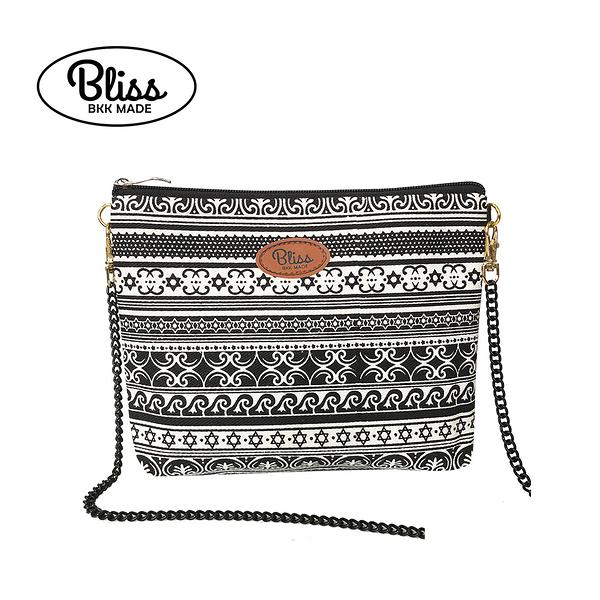 【現貨在台】泰國Bliss BKK包 黑白條紋C 可肩背 可手拿 泰國必買 現貨供應中