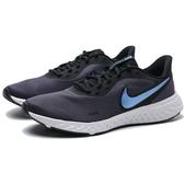 NIKE REVOLUTION 5 黑 銀藍 慢跑鞋 男 (布魯克林) BQ3204-009