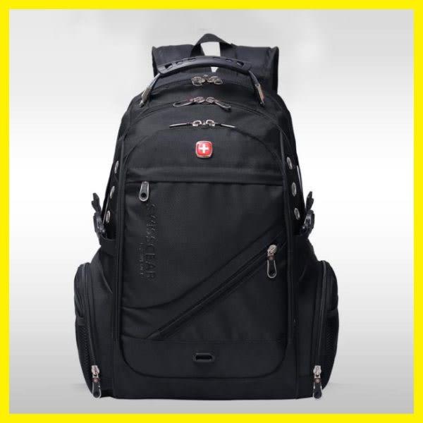 軍刀雙肩包15.6吋17吋電腦包筆電包商務旅行包背包瑞士男女書包 挪威森林