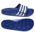 Adidas Duramo Slide 男 女 經典休閒拖鞋 白 藍 G14309
