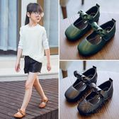 女童鞋休閒鞋 女童方頭公主鞋新品兒童皮鞋防滑軟底寶寶鞋子小女孩單鞋【1件免運】