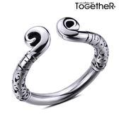 ToGetheR+【KTG033】復古創意如意金箍鈦鋼戒指