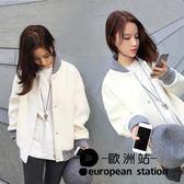 外套/寬鬆短棒球服女夾克「歐洲站」