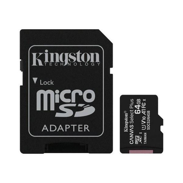 新風尚潮流 【SDCS2/64GB-2】 金士頓 記憶卡 64GB Micro-SD 含 Mini-SD 轉卡 MicroSD MiniSD 終身保固 FullHD A1