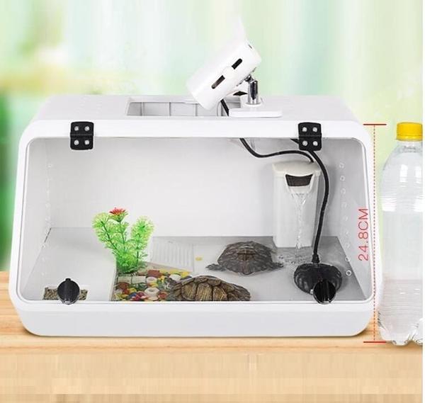 烏龜缸 豪華別墅帶曬台大型養烏龜的專用缸水陸缸巴西飼養箱生態盆 萬寶屋