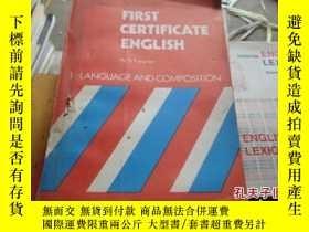 二手書博民逛書店FIRST罕見CERTIFICATE ENGLISHY25254