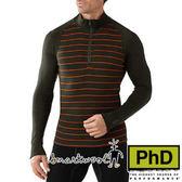 Smartwool 男美麗諾羊毛長袖立領排汗衣 軍綠 SW0SS616 厚保暖排汗衣 美麗諾羊毛衣 內搭衣