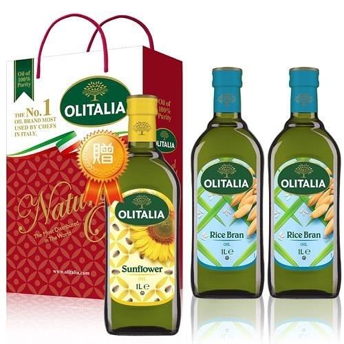 【南紡購物中心】奧利塔玄米油禮盒1組(2罐/組)贈1瓶葵花油