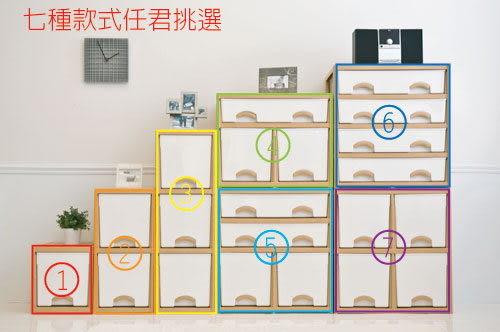 【DOLEDO】優品斗櫃((柚木色)-二橫格+二深抽