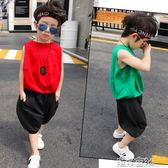 兒童夏季潮衣背心套裝3-5-7歲2男童夏裝帥氣寶寶洋氣童裝 港仔會社