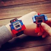 玩具手錶 變形電子手表抖音變身機器人兒童男女孩男童卡通潮流創意玩具【快速出貨八折鉅惠】