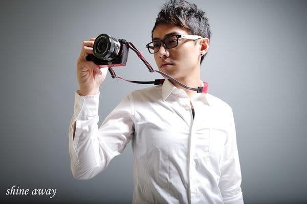 shine away  真皮背帶 減壓 相機背帶 復仇者系列 EX2F LX7 RX100 P7700 適用 4色