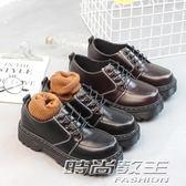小皮鞋女學生韓版百搭ulzzang潮原宿厚底英倫單鞋圓頭復古鬆糕鞋