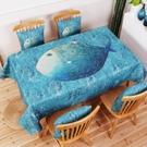 北歐簡約美式餐桌布藝棉麻桌布防水免洗小清新圓桌長方形
