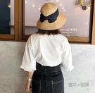 遮陽帽女防紫外線韓版沙灘大檐太陽帽可折疊復防曬草帽 魔法鞋櫃