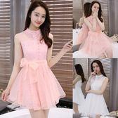小禮服 新款女裝蕾絲甜美歐根紗小禮服LJ7941『科炫3C』