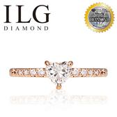 【ILG鑽】Love 愛的力量 玫瑰金 0.50克拉戒指-頂級美國ILG鑽飾,媲美真鑽亮度的鑽飾 RiP24