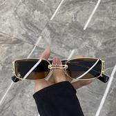 歐美復古墨鏡女ins方框潮街拍蹦迪復古朋克太陽鏡百搭眼鏡網紅款 嬡孕哺 免運
