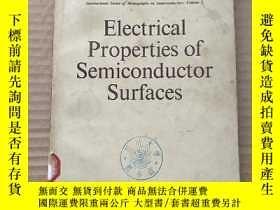 二手書博民逛書店electrical罕見properties of semiconductor surfaces(P586)Y