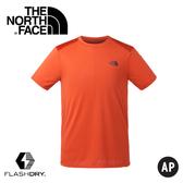 【The North Face 男 排汗短T《橘》】3GE8/排汗衣/短T