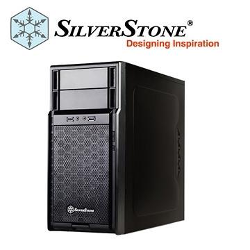 Silver Stone 銀欣 PS08 電腦機殼 SST-PS08B 黑色【刷卡分期價】