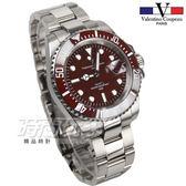 valentino coupeau 范倫鐵諾 古柏 時尚防水手錶 男錶 潛水錶 學生錶 V61589S紅框紅 時間玩家
