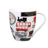 英國Churchill James SADLER 500ML倫敦精瓷馬克杯-英倫塗鴉