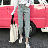 大韓訂製褲子老爹褲日系休閒寬褲牛仔褲學生闊腿褲