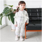 長袖套裝 條紋包屁衣+綿羊吊帶褲 造型服 男寶寶 女寶寶 2件套 Augelute Baby 37003