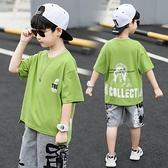 童裝男童短袖T恤夏裝新款中大兒童半袖體恤洋氣帥洋氣韓版潮A 快速出貨